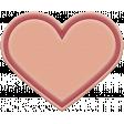 The Good Life: November 2020 Elements Kit - Rubber heart pink
