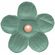 The Good Life: November 2020 Elements Kit - small flower teal