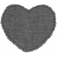 Templates Grab Bag #34 - Medium Burlap Mat Heart Template