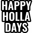 Holiday? Word Art Kit - template happy holla days