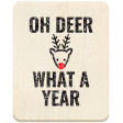 Holiday? Word Art Kit - wood oh deer what a year