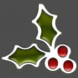The Good Life: December 2020 Christmas Elements - Enamel Holly