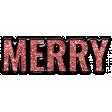 The Good Life: December 2020 Christmas Elements - Merry Word Art