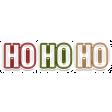 The Good Life: December 2020 Christmas Elements - Ho Ho Ho Word Art