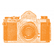 World Traveler #2 Tags & Stickers Kit - Print Vintage Camera