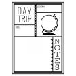 World Traveler #2 Black & White Pocket Cards Kit - Card 04 3x4