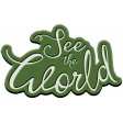 World Traveler Bundle #2 - Elements - Label Rubber See The World Word Art