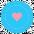 Summer Lovin_Circle-Heart  Rubber  Print