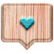 Good Life April 21_Speech balloon Heart-wood blue