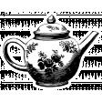 The Good Life: April Collage Kit - Sticker Tea Pot
