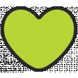 Summer Lovin_Heart-green Print