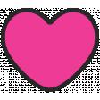 Summer Lovin_Heart-pink dk Print