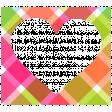 Summer Lovin_Heart-plaid frame Print