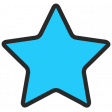 Summer Lovin_Print Star-blue dk