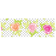 Summer Lovin_Washi tape-dots flowers-white pink green