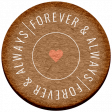 Good Life Feb 21_Circle-Forever And Always  Chipboard