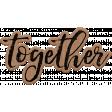 Good Life June 21 Collage_Wordart-Together-Cardboard Sticker