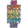 Good Life Aug 21_Word Art Shiny Sticker-Happy Day