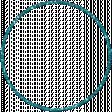 Winter Arabesque Frame - Glitter Circle
