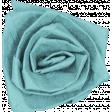 Winter Arabesque Flower - Teal Rose
