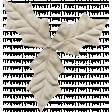Winter Arabesque Leaf - Tan