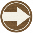 Wandering Road Paper Coin - Arrow