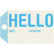 Wandering Road Tag - Hello