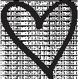 Heart 009 Template - Heart Brush Kit #3
