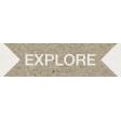 Kraft Travel Label Explore