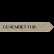 Kraft Travel Label Remember This 1