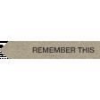 Kraft Travel Label Remember This 2