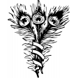 Peacock Feather Template Stamp