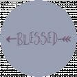 Thankful Harvest Word Circle Blessed