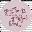 Thankful Harvest Word Circle Grateful Heart