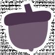 Thankful Harvest Sticker Acorn 3