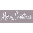 Festive Label Merry Christmas