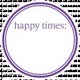 Basics Tag 01 Purple Happy