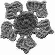 Crochet Flowers No.2 - Templates - Flower 9