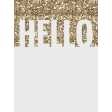 In The Pocket - Writable Journal Card - Hello Gold