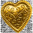 Secret Garden - Elements - Gold Heart