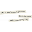 Secret Garden - Elements - Word Art Spring Came