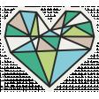 Hipster Dad - Elements - Heart Sticker