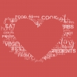 Food Day - Papers - Heart Words Red