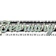 New Day - Enamel Months - February - Mint