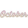 New Day - Enamel Months - October - Pink
