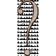 Winter Day Alphas - Question-mark - Wood Serif