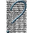 Winter Day Alphas - Question-Mark - Metal Script
