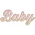 New Day - Elements - Wordart Baby - Pink