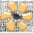 Fresh - Elements - Tiny Flower - Yellow