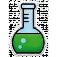 The Mad Scientist - Elements - Ehrlenmeyer - Sticker